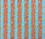 China Seas Fabric: Bijou Stripe - Custom New Blue / Brown / Shrimp on Belgian Linen/Cotton