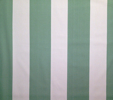 China Seas Fabric: Bradfield Stripe - Custom Medium Sage on Ecru 100% Cotton