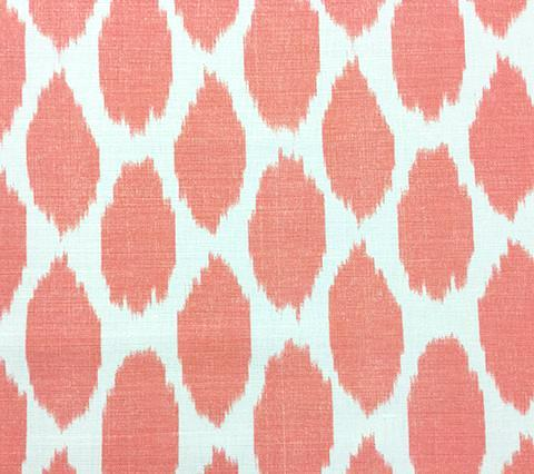 Quadrille Prints: Adras - Custom Watermelon on White Belgian Linen/Cotton