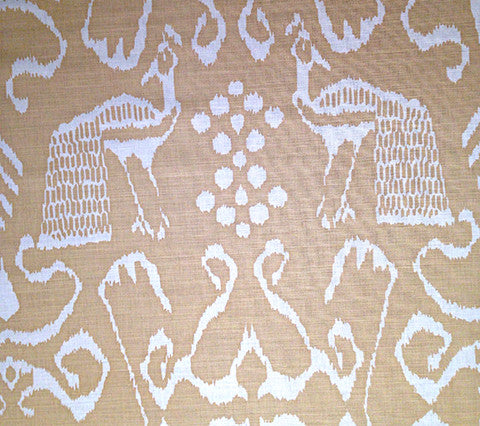 China Seas Fabric: Bali II - Custom Light Beige on White