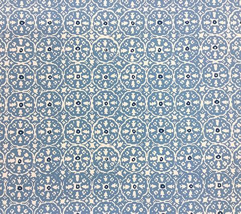 China Seas Wallpaper: Nitik II - Custom Sky / Blue on Almost White Paper