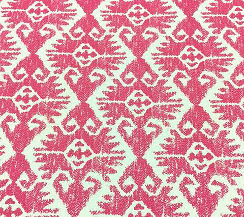 Quadrille Prints: Tucson - Custom Pink on Tinted Belgian Linen/Cotton