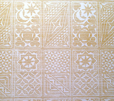China Seas Fabric Birindi Custom Aztec Gold Yellow Geometric on White Suncloth Sunbrella Indoor Outdoor Quality