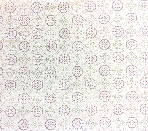 Quadrille Prints: Crawford - Custom Lavender / Greens on White Belgian Linen/Cotton