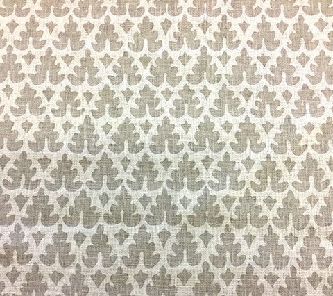 Quadrille Prints: Volpi - Custom Polar Gray on White Belgian Linen/Cotton