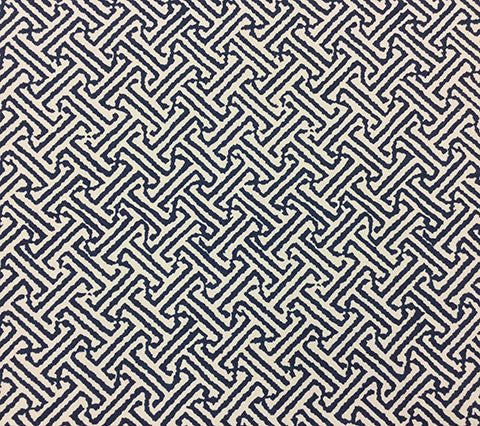 China Seas Fabric: Java Java - Custom Navy on Vellum Suncloth (Indoor/Outdoor)