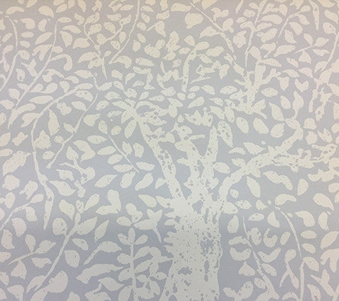 China Seas Wallpaper: Arbre de Matisse Reverse - Custom Gray on Off White Paper