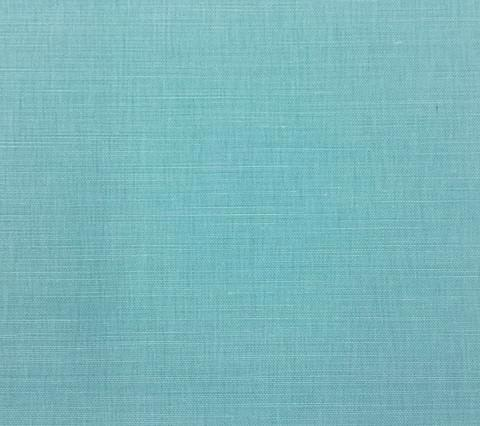 China Seas Fabric Bahama Cloth Custom Solid Light Turquoise on Belgian Linen Cotton