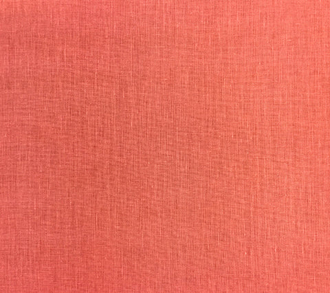 China Seas Fabric: Bahama Cloth - Custom solid Coral printed on Belgian Linen/Cotton