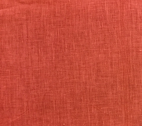 China Seas: Parchment Cloth - Custom Coral on 100% Belgian Linen