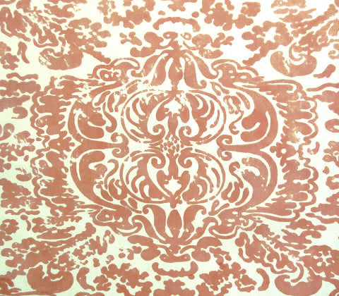 China Seas Fabric: San Marco - Terracotta on Vellum Suncloth