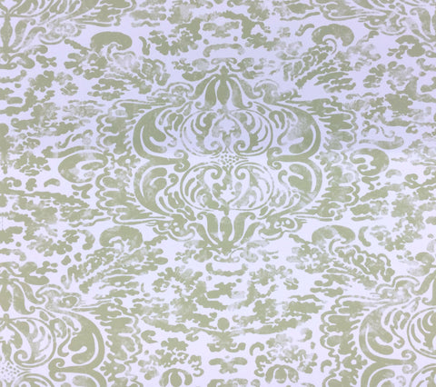 China Seas Wallpaper: San Marco - Custom Celadon on White Paper