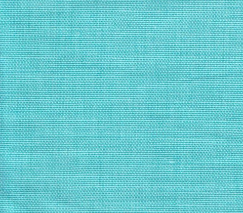 China Seas Fabric Bahama Cloth Custom Solid Turquoise on Belgian Linen Cotton