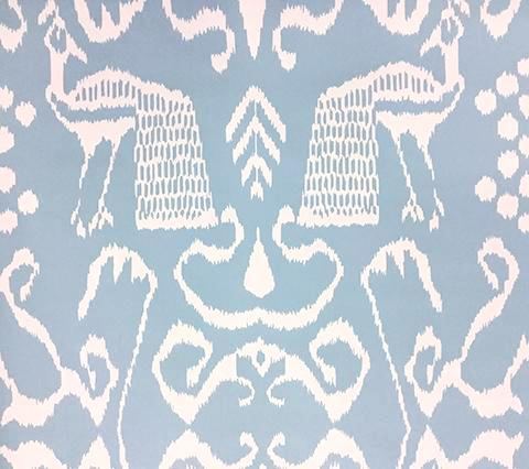 China Seas Wallpaper: Bali II - Custom Windsor Blue on White Paper