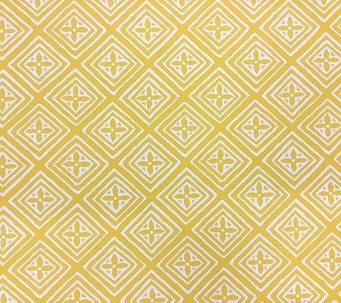 China Seas Wallpaper: Fiorentina - Custom Imperial Yellow on Almost White Paper