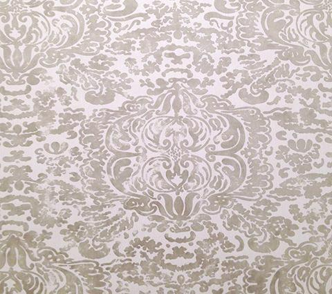 China Seas Fabric: San Marco Custom Camel damask print on Vellum Suncloth Sunbrella (Indoor/Outdoor Quality)