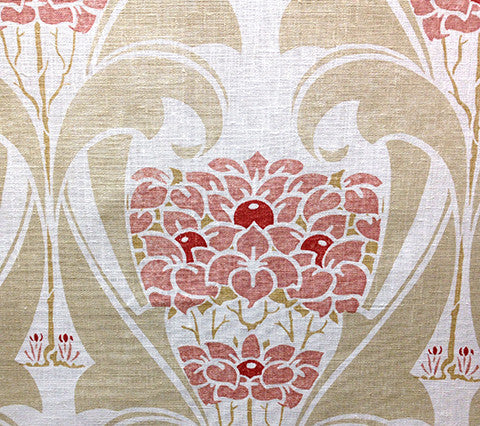 Quadrille Prints: Custom Apple Blossom - Custom Reds / Beige