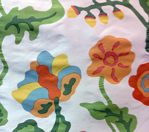 Alan Campbell Fabric: Potalla - Custom Multi Greens on 100% Silk Taffeta