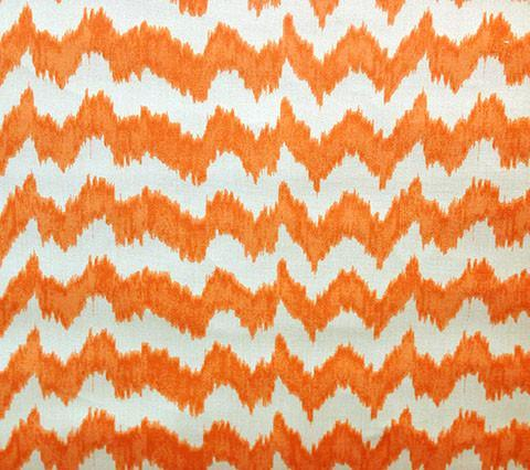 Quadrille Prints: Jolo - Custom Orange on Vellum Suncloth (Outdoor Quality)