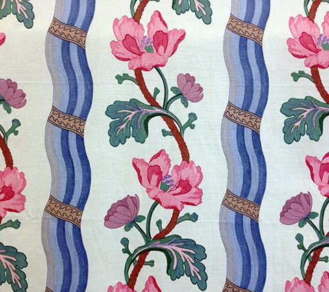 Quadrille Prints: Chaillot - Bleu Rose on 100% Cotton Percale