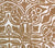 Quadrille Fabric: San Michele - Custom Soft Camel on Beige 100% Linen DETAIL