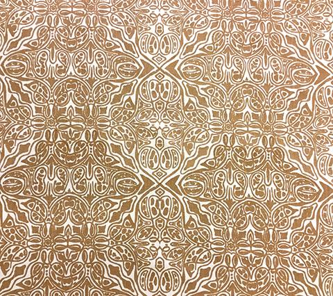Quadrille Fabric: San Michele - Custom Soft Camel on Beige 100% Linen