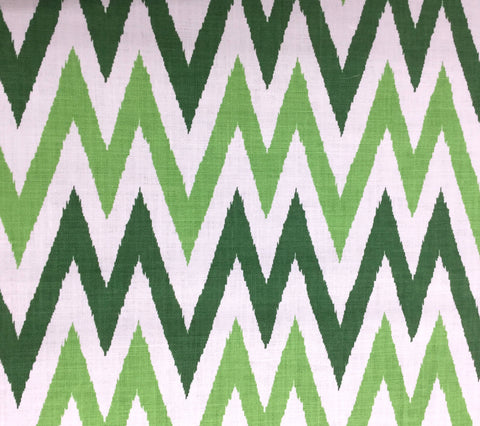 Quadrille Fabric: Tashkent II Small Scale - Custom Dark Green / Jungle Green on White 100% Heavy Basketweave Belgian Linen