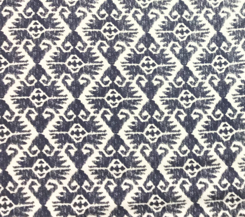 China Seas Fabric: Tucson - Custom Navy on Tinted Belgian Linen/Cotton