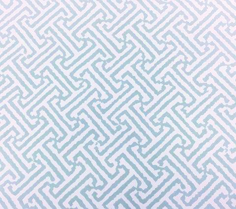 China Seas Wallpaper: Java Java - Custom Celadon on White Paper