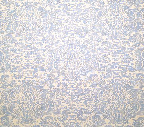 China Seas Fabric: San Marco - Custom Zibby Blue on White