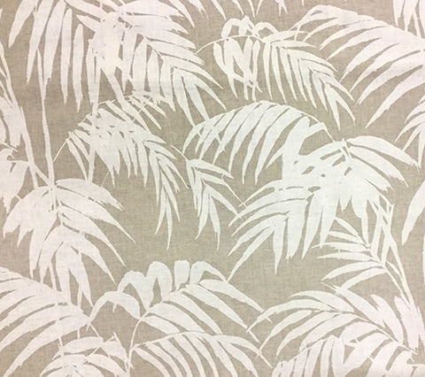 China Seas Fabric: Martinique Reverse - Custom Taupe on Tan 100% Belgian Linen