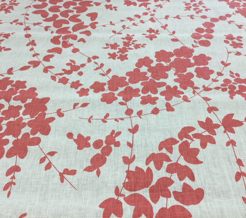 China Seas Fabric: Lysette - Custom New Shrimp on Tinted 100% Belgian Linen
