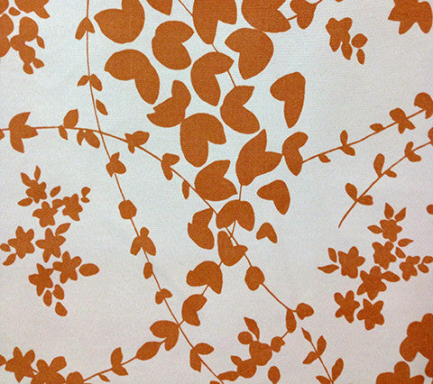 China Seas Fabric: Lysette - Custom Orange on Beige Trevira (Commercial Quality)