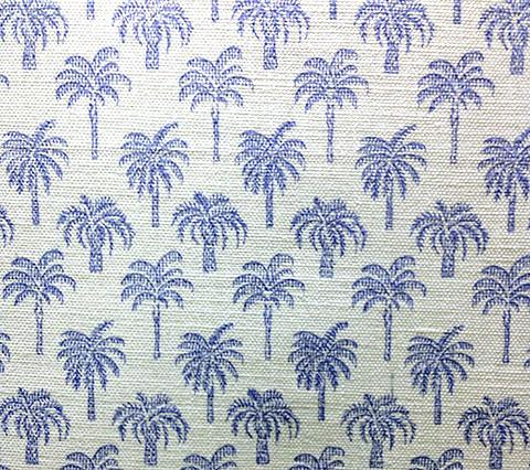 China Seas Fabric: Island Palms - Cornflower