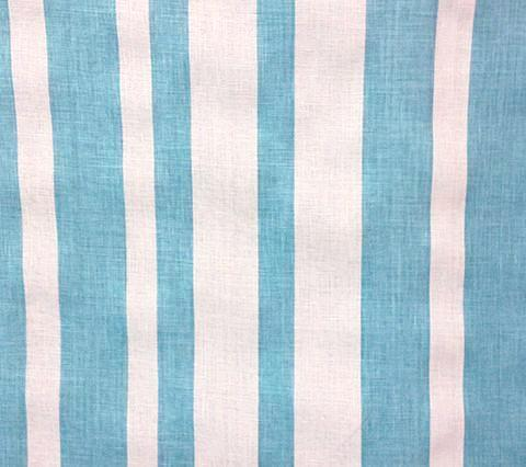 China Seas Fabric Carnival Stripe Custom Aqua Turquoise Stripes on Tinted Belgian Linen