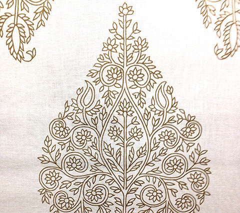 Home Couture Fabric: Taj - Custom Tan on Tinted 100% Belgian Linen