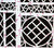 China Seas Wallpaper: Lyford Trellis - Custom Rose / Brown on White Paper