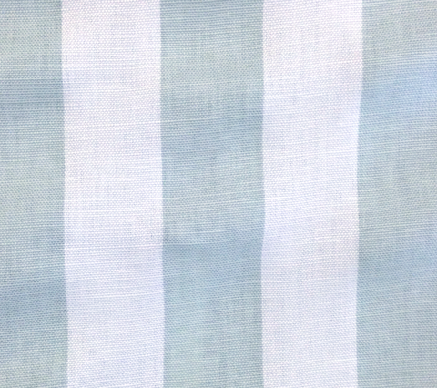 China Seas Fabric: Sand Bar Stripe - Custom Gray-Blue on Belgian Linen/Cotton