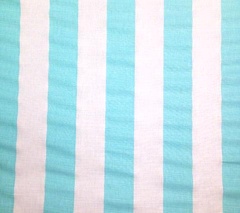 China Seas Fabric: Sand Bar Stripe - Custom Aqua on White Belgian Linen/Cotton