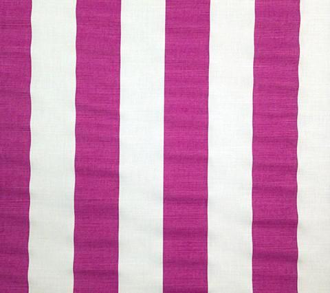 China Seas Fabric: Sand Bar Stripe - Custom Purple on White Belgian Linen/Cotton
