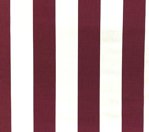 China Seas Fabric: Sand Bar Stripe - Custom Plum Raisin on White Belgian Linen/Cotton