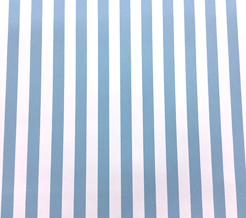 China Seas Wallpaper: Dune Stripe - Custom Sky Blue on White Paper