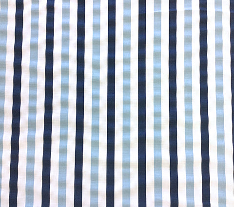 China Seas Fabric: Dune Multi Color - Custom Sky Blue / Navy on White Belgian Linen/Cotton