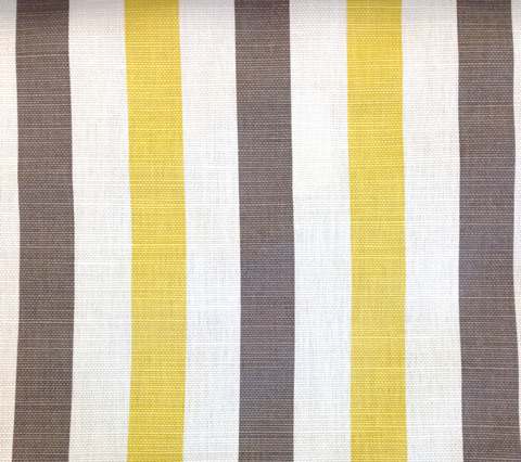 China Seas Fabric: Dune Multi Color - Custom Gray / Yellow on White Belgian Linen Cotton