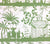 China Seas Fabric: Lyford Pagoda - Custom Grass Green on Tinted Belgian Linen/Cotton
