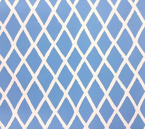 China Seas Wallpaper: Lyford Diamond Blotch - Custom French Blue on White Paper