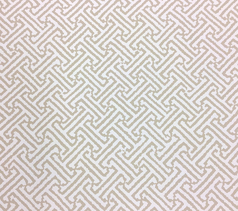 China Seas Wallpaper New Java Java - Custom Beige geometric ikat batik print on White Paper