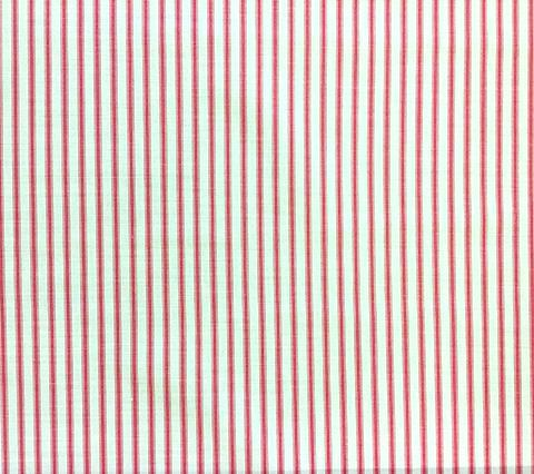 China Seas Fabric: Chapelle Stripe - Custom Rose on Tinted Belgian Linen/Cotton
