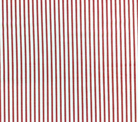 China Seas Fabric: Chapelle Stripe - Custom Red small stripe on White Belgian Linen/Cotton