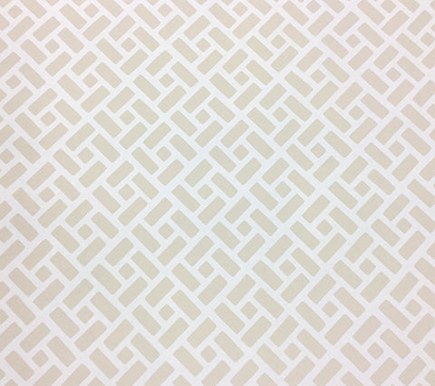China Seas Wallpaper: Edo II - Custom Beige small geometric print on White Paper